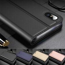 Tarjeta Magnética de Cuero Billetera Abatible Estuche Cubierta para iPhone XS Max 8 7 11 6S Plus X