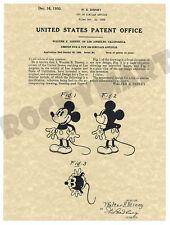 1930 Mickey Mouse Disney LA ART PATENT PRINT - Produced from Original USA Patent