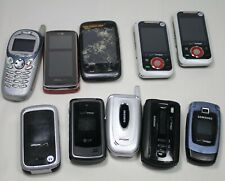 Vintage Lot of 10 Verizon Cell Phones Slide Keyboard, Flip, W/ Camera Not Tested