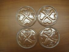 New listing Coasters, Towle 24% lead crystal, set of 4, round with heart shapes inside, used