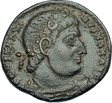 CONSTANTINE I the GREAT 330AD Authentic Ancient Roman Coin w SOLDIERS i65896