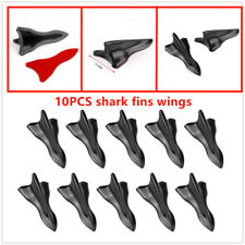 High quality10Pcs EVO-Style PP Roof Shark Fins Spoiler Wing Kit Vortex Generator