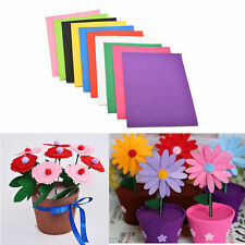 10PCS Non Woven Felt Fabric Sheets Fiber Kids Handmade DIY Craft Scrapbooking CN