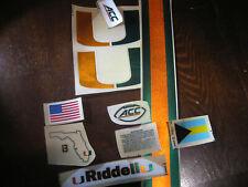 Miami Hurricanes football helmets 3M vinyl decals chrome