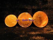 Monnaie 1,2,5 centimes cent cts euro Pays-Bas 2009, neuves du rouleau, UNC