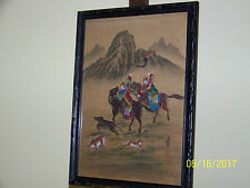 """Chinese Ch'ing Dynasty Museum Quality WaterColor On Rice Paper """"The Hunt"""""""