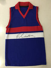 RARE WESTERN BULLDOGS FOOTSCRAY CHARLIE SUTTON SIGNED VINTAGE JUMPER