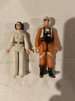 Vintage 1977-79 Kenner Star Wars Figures Rare Pilot Luke Skywalker Princess Leia