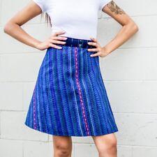 Guatemalan Handmade Colorful Wrap Skirts One Size Huipil Boho Style Aqua Pink