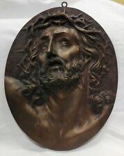 Placca Cristo in bronzo del '800 cm 36x30 Antikidea