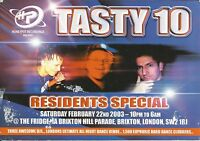 (RAVE FLYER 2003) TASTY / HONEYPOT @ BRIXTON.LONDON. MARG EG. BILLY BUNTER