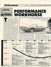 1979 1983 1984 1992 Ford Mustang Original Car Review Print Article J566
