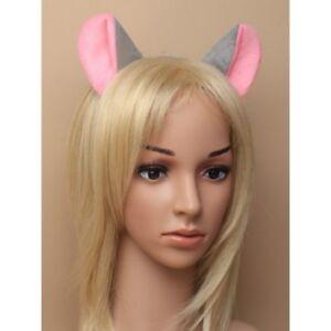 Grey Mouse Ears Rat Ears Headband Fancy Dress Costume Mice Outfit