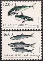 Grönland 2018 Michel Nr. 793-94 NORDEN Fische Gemeinschaftsausgaben Makrele