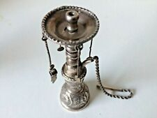 ANTIQUE MIDDLE EASTERN MINIATURE SOLID SILVER 900 HOBBLE BOBBLE HOOKAH