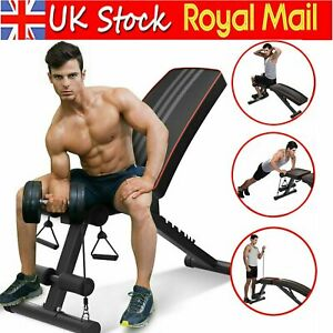 Foldable Dumbbell Bench Heavy Press Fitness Workout Exercise Gym Incline Decline