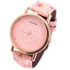 Uhr Armbanduhr Damen *Rosa Roségold* Blumendesign NEU