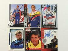 Lot of 29 Nascar and other Racing Autographed 1990s Trading Cards~