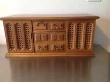 Vintage London Leather Brand 8-drawer Jewelry Box in Wood