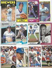 Huge Lot of 1000 Milwaukee Brewers Cards; 1986-1997; NM-Mint