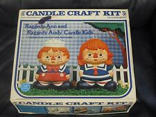 Cunningham Candle Craft Kit Raggedy Ann and Andy 1974 Complete #12787 Crafting