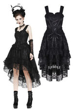 Dark In Love Gothic Cocktail Prom Dress Victorian Black Lace Evening Dress DW198