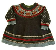 Hanna Andersson size 60 (3-6 mo ) Girl's Fox Nordic Long Sleeve Sweater Dress