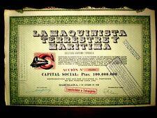 La Maquinista Terrestre y Maritima,Spain,share certificate 1948