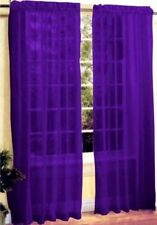 "ARGOS COLOUR MATCH Pair of slot top Voiles 150 x 229 cm (60"" x 90"") True Purple"