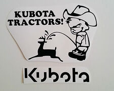 KUBOTA decal TRACTOR fender seat pull pulling trailer plow STICKER mower BLACK