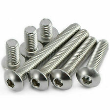 M6 STAINLESS STEEL BUTTON HEAD BOLTS 10 PIECES LENGTHS 12mm to 85mm GRADE A2