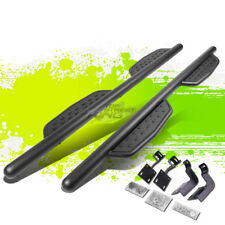 "3"" LONG BLACK NERF BARS RUNNING BOARDS FOR 99-16 F250 F350 SUPER DUTY CREW CAB"