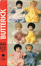 """1980's VTG Butterick Doll's Clothes Pattern 4144 Size 16"""" tall"""
