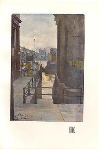 1902 Studio Imprimé ~ Blackfriars Jetée Par Tony Grubhofer