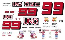 #99 Tim Richmond UNO Buick - Chevy 1/64th HO Scale Slot Car Waterslide Decals