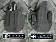 LEFT HANDED RAVEN  LIGHT KYDEX HOLSTER for GLOCK 19 23 32 9/40 SUREFIRE X300
