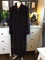 Long Wool Coat Uk 12 Brown 70% Wool Soft Fur Trim Riding Coat Alexon