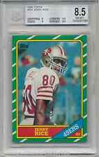 1986 Topps JERRY RICE BGS 8.5 Rookie Card - .5 away from Mint 9 - PSA Crossover?