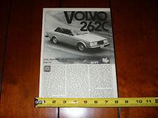 1978 VOLVO 262C - ORIGINAL ARTICLE