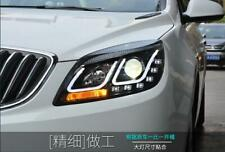 For GM Buick Excelle GT LED Headlights LED U style Angel Eyes lamps 2010-2013 LF