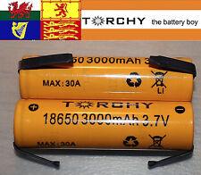 With tabs 2x 30A Torchy (Samsung 30Q) 3000mAh 18650 3.7v Li-ion batteries +case