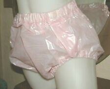 AB ADULT BABY PVC PLASTIC PANTS  PINK SIDE POPPERS  NAPPY  PANTS  UK SIZE M