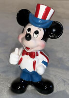 Vintage Disney Mickey Mouse Uncle Sam Ceramic Figurine Japan - Free Shipping
