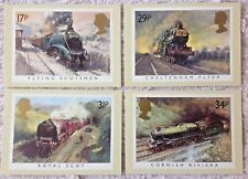 GB POSTCARDS PHQ CARDS MINT  1985 FAMOUS TRAINS (4) . Free Postage