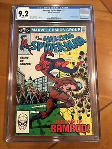 AMAZING SPIDER-MAN #221 CGC 9.2 WHITE PAGES The Ram Rod Great Character