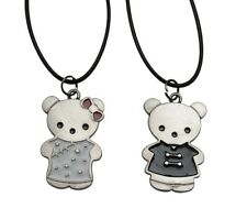 2 Colliers Pendentif Couple Ours Ourson.
