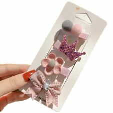 4 Pcs Baby Hair Clips Cartoon Lace Flower Crown Bows Hairpins Headband Barrettes