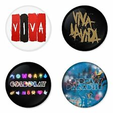 Coldplay, D. - 4 piastrine, pin, badge, button