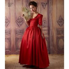 Red Outlander Colonial 18th Century Ballgown Scottish French Cut