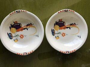 Rare Paden City Pottery 2 Small Bowls Patio Pots Garden Pattern Southwest Mexico